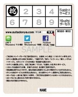 メンバーズカード中面1